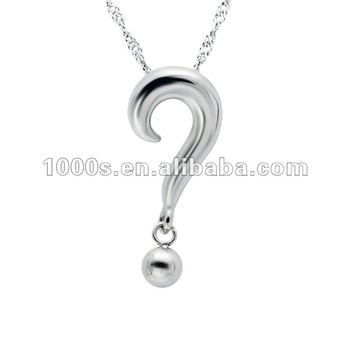Stainless steel question mark pendant buy custom stainless steel stainless steel question mark pendant aloadofball Image collections