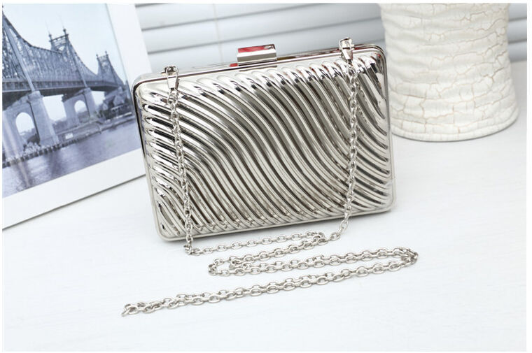 20158 new factory price evening clutch with chain designer metal clutch wallets wedding clutch bag drop shipping 789N