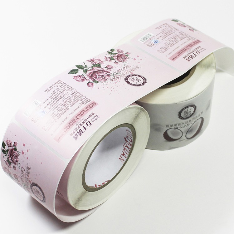 Custom Printed Self Adhesive Label For Shampoo Bottle