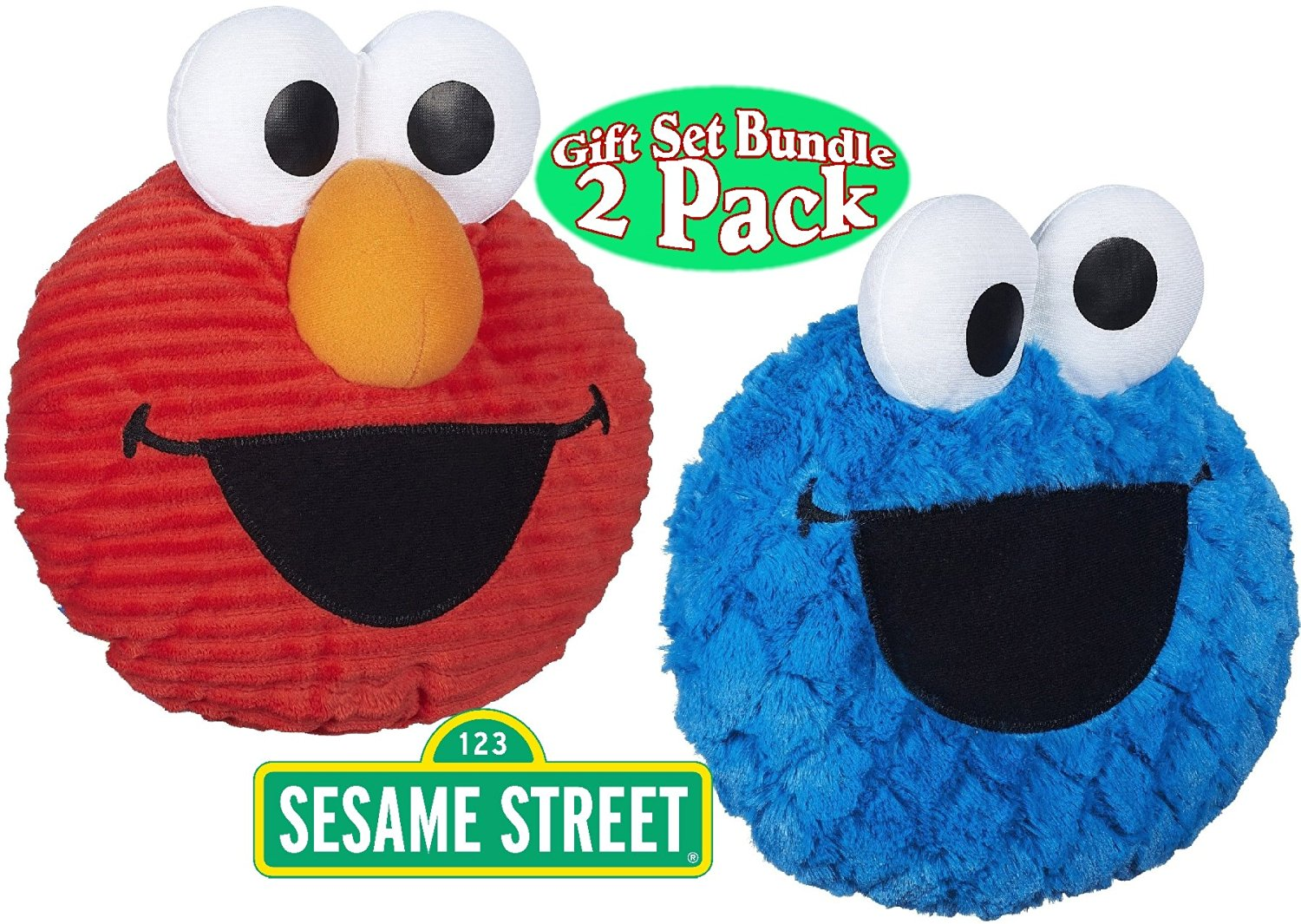 9b44f957fa47 Get Quotations · Playskool Sesame Street Giggle Faces Elmo   Cookie Monster  Gift Set Bundle - 2 Pack