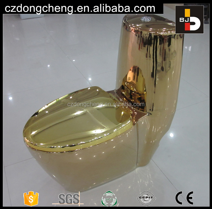 Luxury Bathroom Sanitary Ware Gold Plated Color Toilet Bowl For Sale