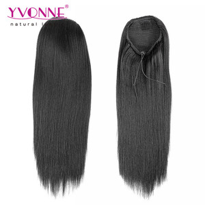 Wholesale kinky straight human hair ponytail extension