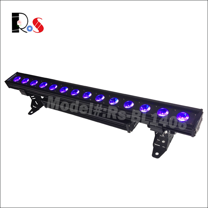 LED outside lights builtin pixel / matrix controlled led 6in1 RGBWA UV 14x12w building wall washer lighting