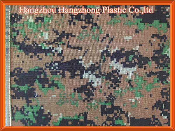Camouflage Oxford Fabric 600D PVC PU Coating