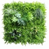 Customized 1*1m shop decor fresh PE waterproof artificial leaf wall for artificial hedge