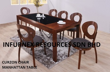 Wood Furniture Dining Room Set Home Glass Table