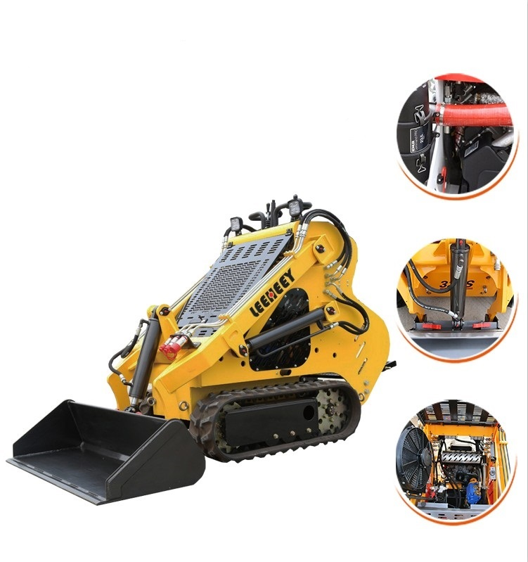 China Factory Rubber Track 23hp Gasoline Mini Skid Steer Loader for sale