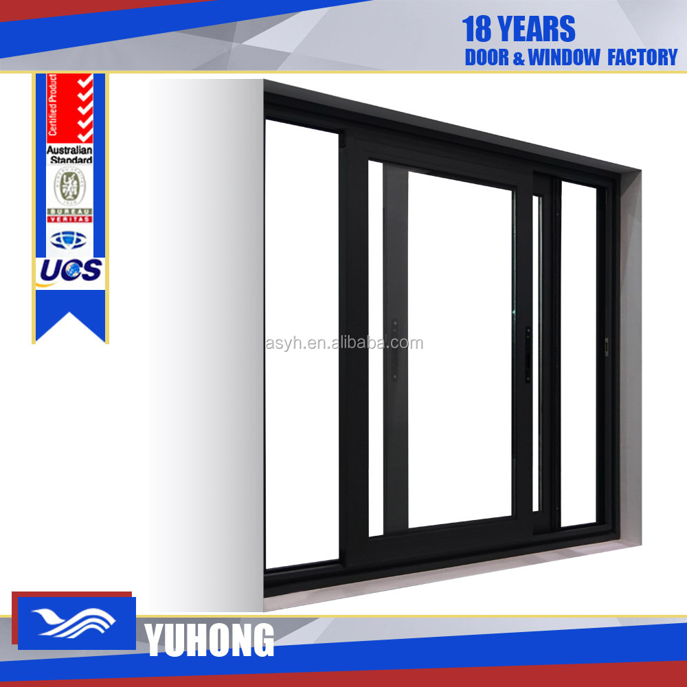 Aluminum horizontal sliding window screen with single glass