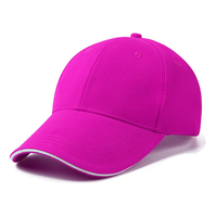 Classic Plain Baseball Cap Dad Hat Cotton Adjustable Size Blank Rose Red Hats