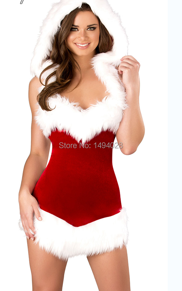 fa558008d32 Get Quotations · Hot Sale Christmas Party Dress Women Gift Sexy Skirt Christmas  costume Hat Hollween Ladies Dress Santa
