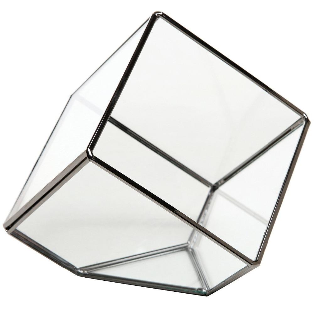 moderne artistique clair verre cube bo te verre plante terrarium vases en verre cristal id de. Black Bedroom Furniture Sets. Home Design Ideas