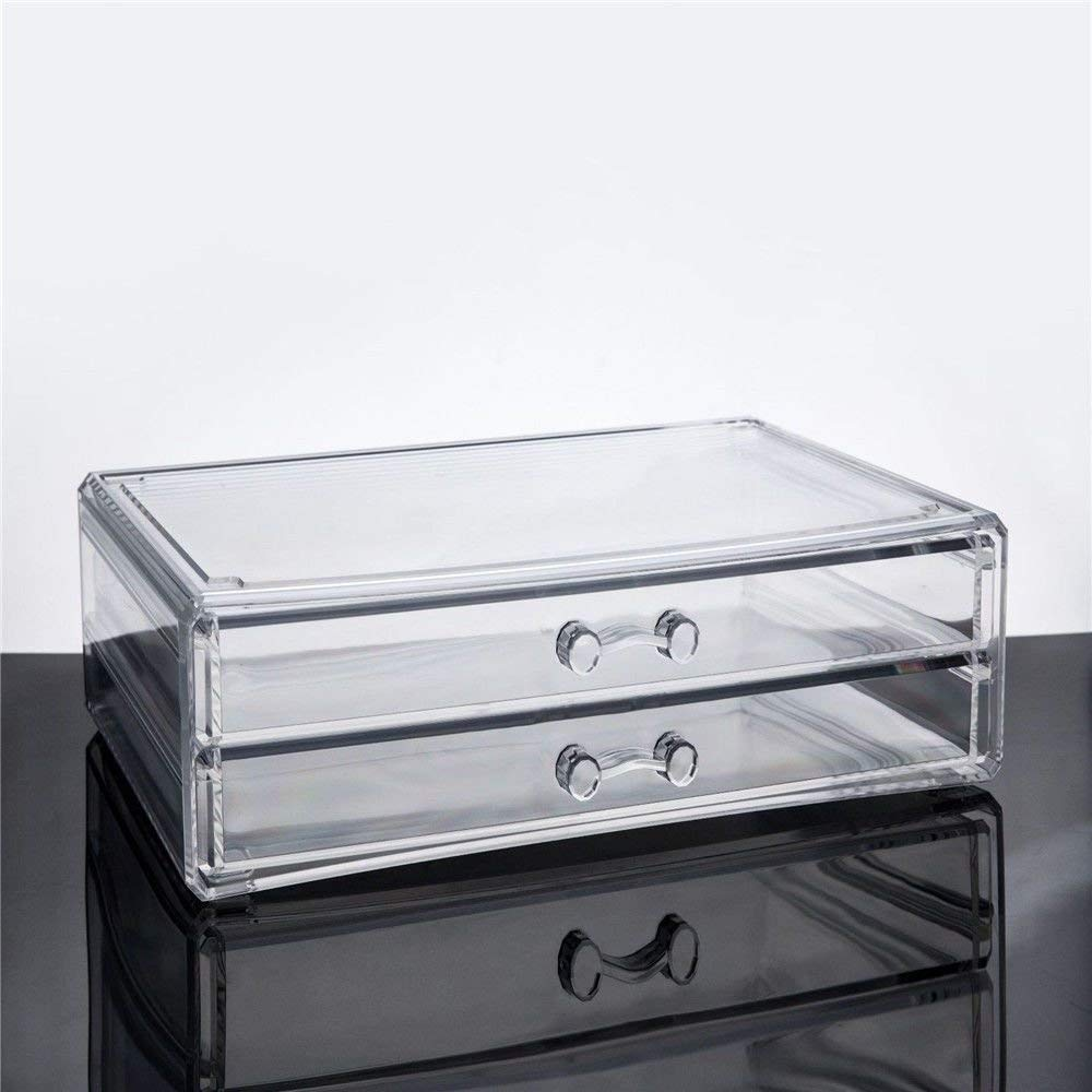 ZQ Acrylic transparent plastic jewelry/stationery/glasses/small items drawer storage box
