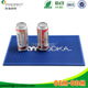 Soft PVC Rubber Red Bull Bar Mat OEM 3D Logo Custom Rubber Bar Spill Mat