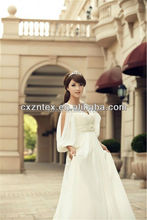 white wedding dress/dull satin fabric