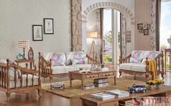 Molto economici mobili soggiorno divano in legno di quercia set