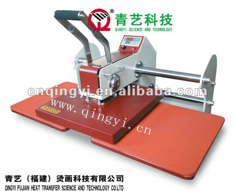 QY-A8 double station manual CE standard heat press machine for heat transfer vinyl