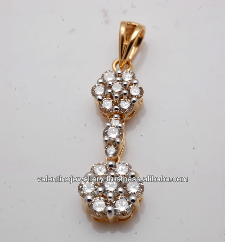 Double clusters diamond pendant designlong and traditional diamond double clusters diamond pendant designlong and traditional diamond jewelry pendantwholesale diamond pendant in real gold buy double clusters diamond audiocablefo