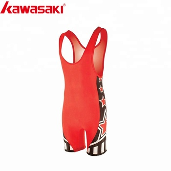 Bright red color sublimated sexy women 5xl wrestling singlets