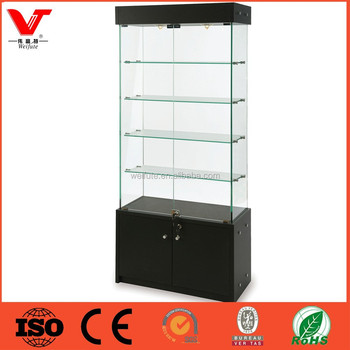 Accessories Free Standing Glass Display Cabinet Commercial