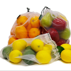 ECO FRIENDLY PREMIUM WASHABLE STORAGE OF FRUIT VEGETABLE FOOD SHOPPING GROCERY DRAWSTRING NET MESH REUSABLE PRODUCE BAGS