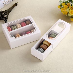 Factory Eco-friendly Paper Macaroon Box 5/10 Macaron Packing Box with Window