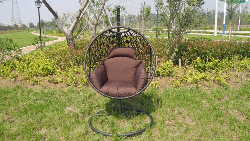 Cheap One Person Reclining Outdoor Rattan Hanging Egg Swing Chair For Sale  For RH59