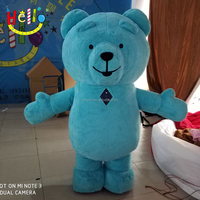 New design fur material inflatable teddy bear mascot costumes for adult size