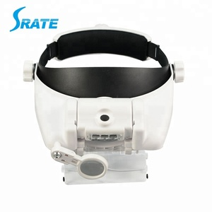 Headband Magnifier With 5 Replaceable lens Detachable LED Light Illuminated Magnifier Eye Glass Magnifying Loupe Headlamp