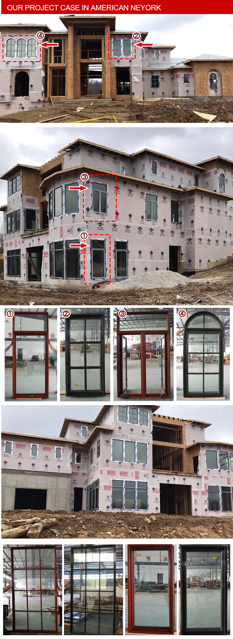 Quality ultimate push out casement triple glazed aluminium crank windows top quality awning window