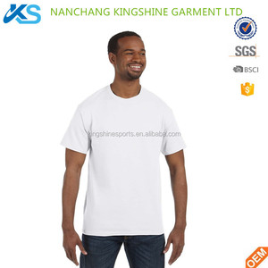 Cheap 100%cotton 120gsm single Jersey plain white one size fit T-shirt one dollar Tees