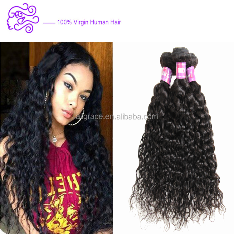 Cheapest Indian water wave hair weave 100% human hair extensions Unprocessed Indian remy hair Water wave