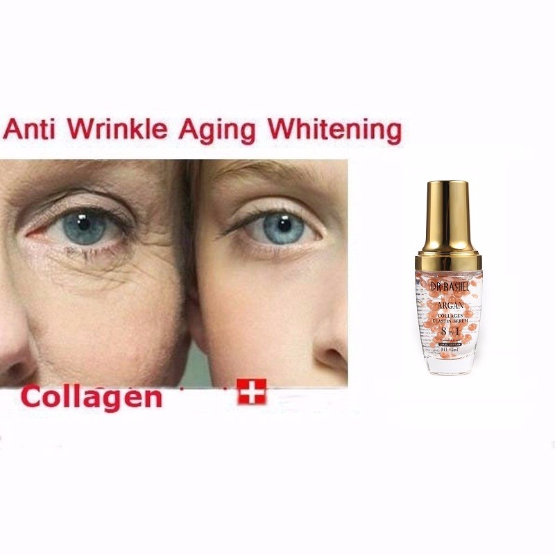 DR.RASHEL Argan Collagen Ampoule Face Serum Anti Wrinkle Whitening Elastin Make Up Primer facial Essence 40ml
