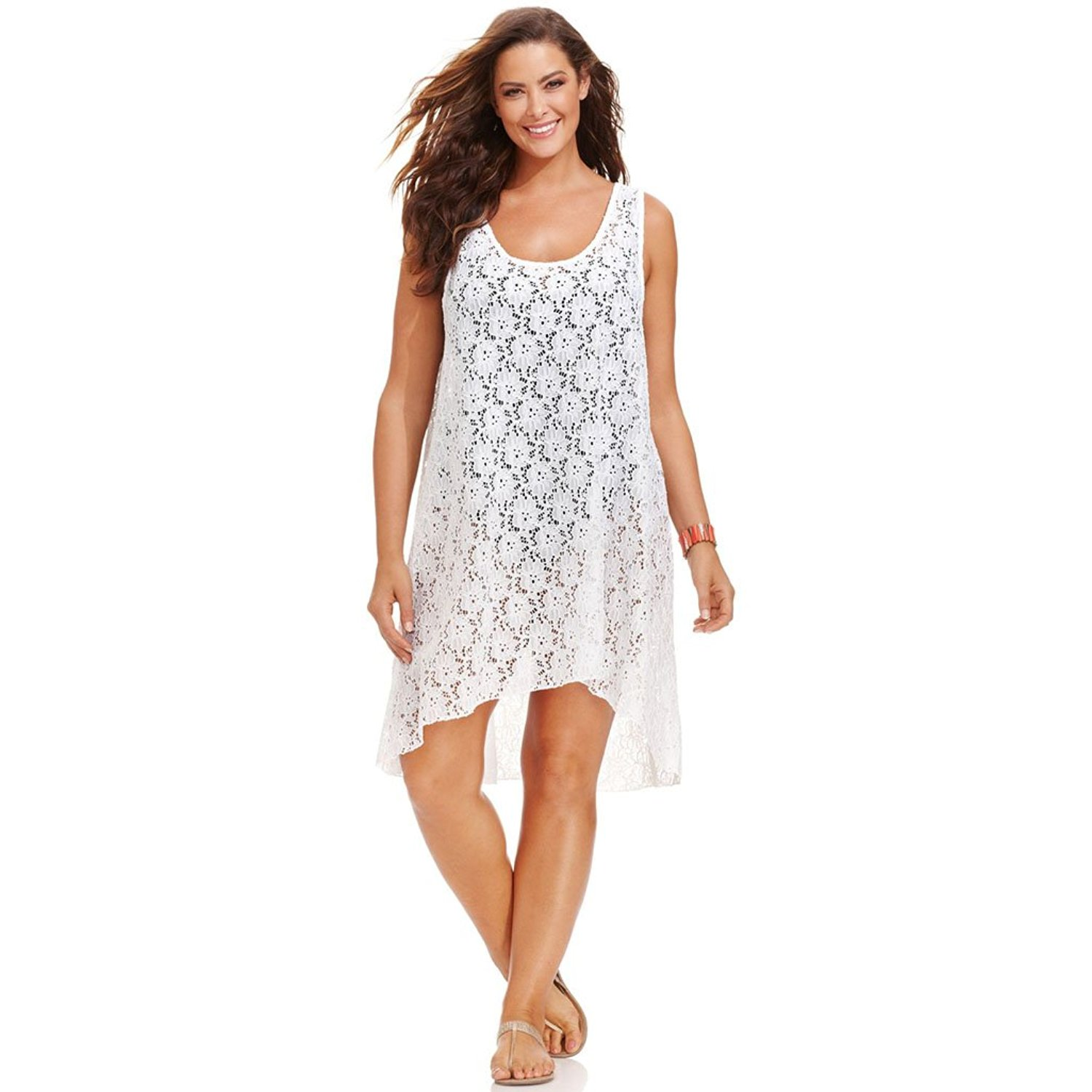 Buy Profile by Gottex Plus Size Lace High-Low Dress Cover Up Womens ...