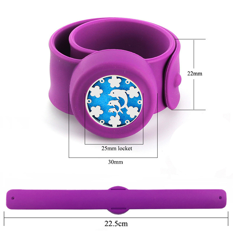 New Arriving Silicone Jewelry Cut Stainless Steel Dolphin Designs Colorful Bands Wrist Bracelet for Kids