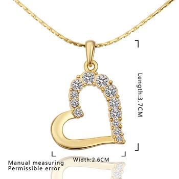 2014 New Heart Pendant Gold Jewellery Necklace Latest Model Fashion