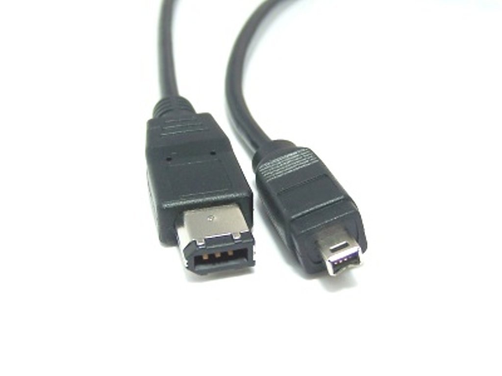 Micro Connectors, Inc. 10 feet Firewire IEEE 1394 6 Pin to 4 Pin Cable (E07-217)