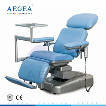 AG-XD107 Adjustable dialysis electrical reclining surgical blood collection donor chair