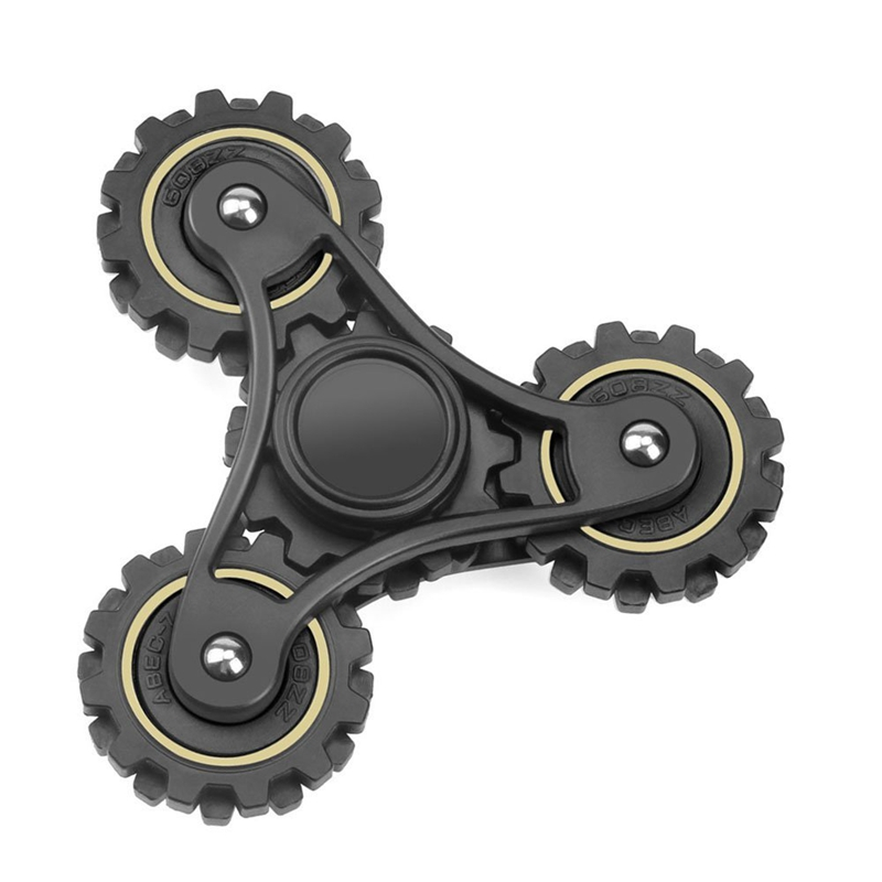3 Bar Spinner Gear Spinner With Fidget Buttons R188 Bearing Stress Reducing EDC Tri Spinning Fidget Wheel Toys