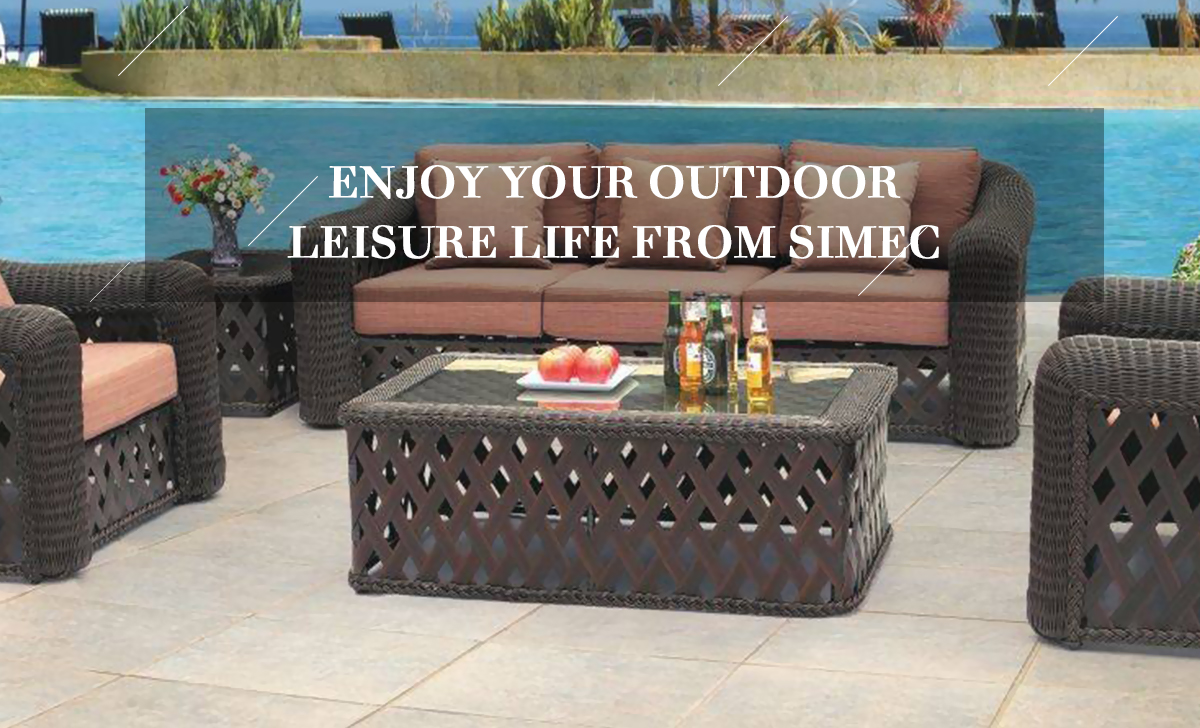 Yiwu simec crafts products co. ltd. outdoor furniture rattan