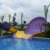 Pool water slide Boomerango theme fiberglass water slide for sales