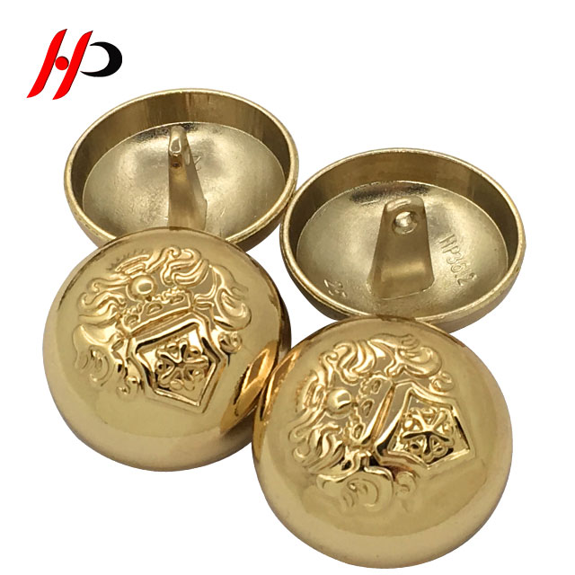 2f55e9f645c Fashion custom made large 25mm sewing shank military brass metal fur coat  buttons