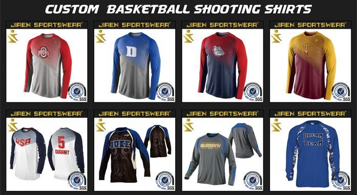 793955c8d28 Digital Sublimation Basketball Shooting Shirts wholesale shooting shirts