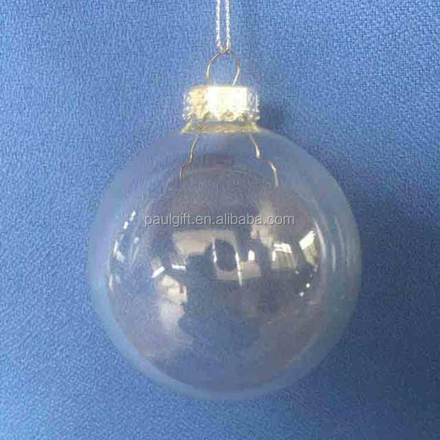 clear glass ball bulk cheap christmas glass ornaments balls 80mm