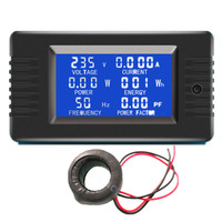 2018 New PZEM-022 AC 220V 6in1 Volt Amp Watt Energy Frequency Electric Smart Kwh Meter Digital Power Factor Meter