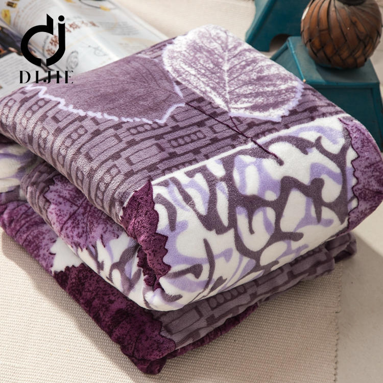 Wholesale popular microfiber polyester blanket korean polar fleece in stock lots