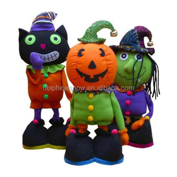 Divertido 2017 De Nuevo Halloween Juguetes Bruja Negro Buy Juguete Dibujos Animados Gato Peluche Muñeca Zombie kOZiXPu