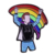 Cheap wholesale custom metal LGBT rainbow gay pride lapel pin
