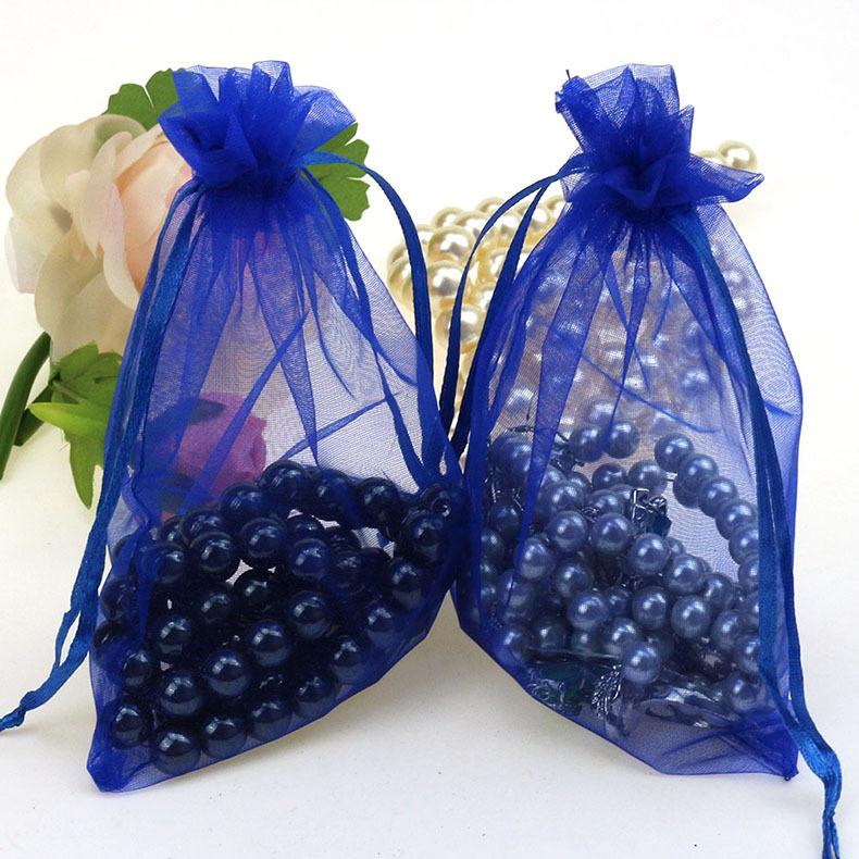 Wedding Gift Bags Wholesale: Aliexpress.com : Buy 11x16cm Drak Blue Organza Jewelry