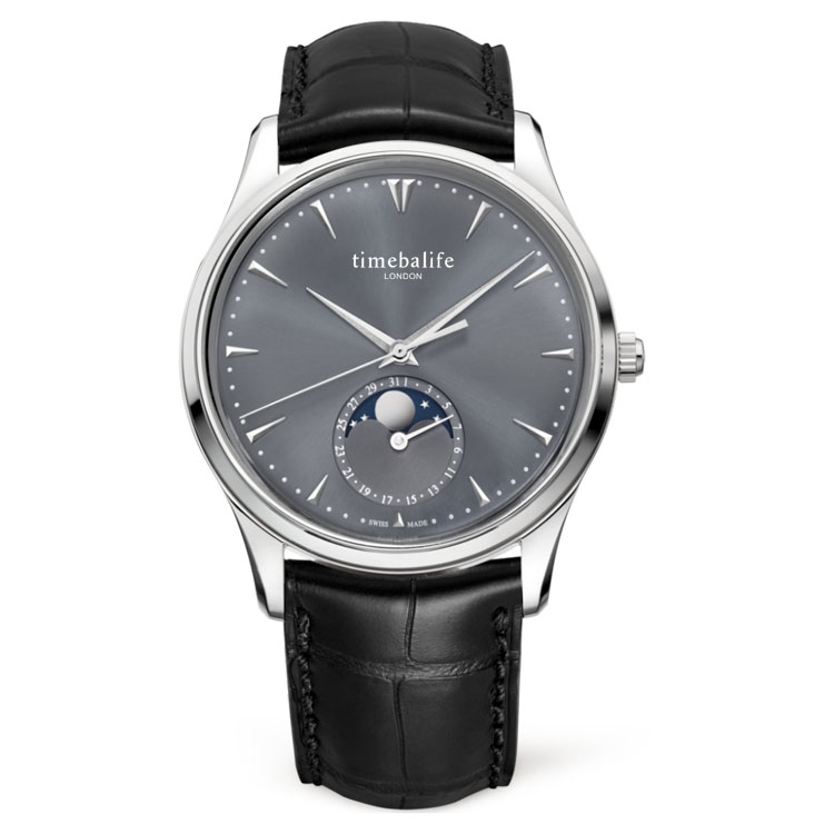Top Luxury Fashion Moonphase Japan Movement Water Resistant 5ATM Brand Your Own Logo Watches Men Wrist