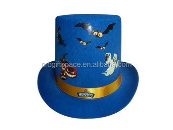Vintage style Halloween Day man fitted custom wool fabric slash bowler top  hat for party events 9242069257b